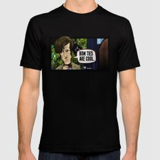 Bow Ties are Cool. SMALL Mens Fitted Tee Black