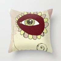 See No Evil - Pink Throw Pillow