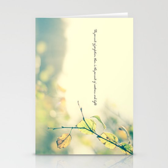 The Pursuit of Perfection Stationery Card