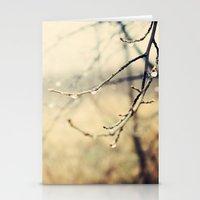 January rain Stationery Cards