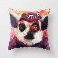Lemur ( The Pimp Le-Mur … Throw Pillow