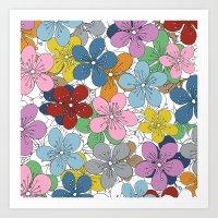 Cherry Blossom Colour - In Memory of Mackenzie Art Print