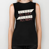 Sleep All Day Everyday Biker Tank