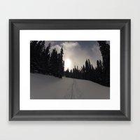Earning Turns Framed Art Print