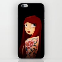 the girl with the flower tattoo iPhone & iPod Skin