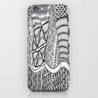 Zentangle Fields Of Drea… iPhone 6 Slim Case