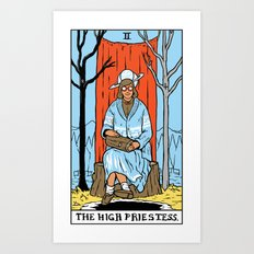 II-The High Priestess Art Print