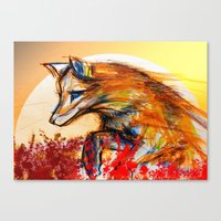 Fox in Sunset II Canvas Print
