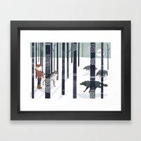 Us and Them Framed Art Print