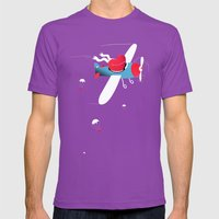 Love Is In The Air Mens Fitted Tee Ultraviolet SMALL