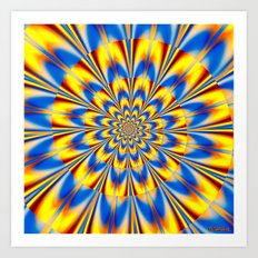 Flashing Star Art Print