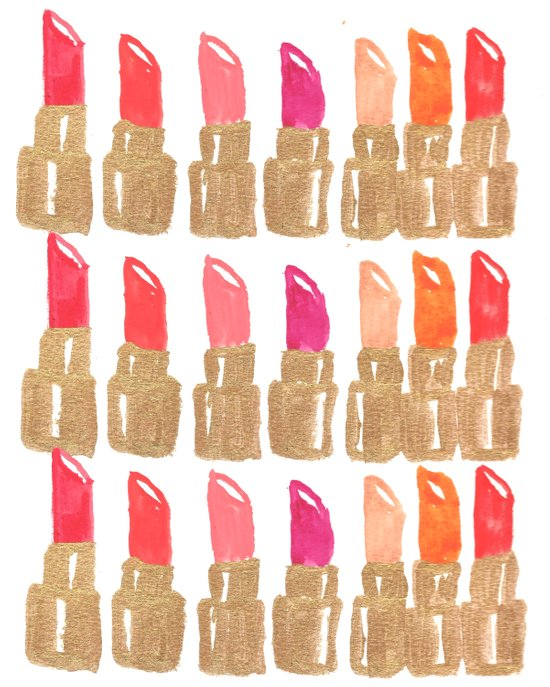 Lipstick! Canvas Print