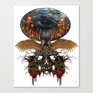 Planet Lives The Fear Canvas Print