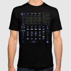 DJ Mixer Mens Fitted Tee SMALL Black