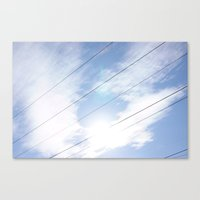Lines In The Clouds Canvas Print