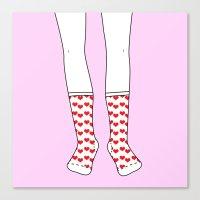Sweetheart Socks Canvas Print
