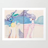 Hair Play 04 Art Print