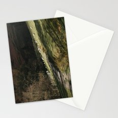 Stone footpath and grazing sheep. Edale, Derbyshire, UK. Stationery Cards