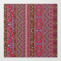 Farah Stripe Red Canvas Print