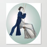 Fashion Illustration - Pride & Prejudice Canvas Print