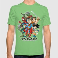 My Heroes Mens Fitted Tee Grass SMALL