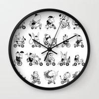 Animals Bicylcle Club Wall Clock
