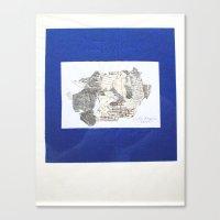 des Königs Blau Canvas Print