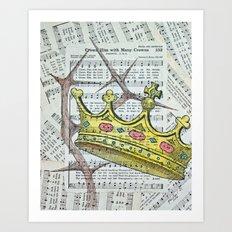 Crown Hymn Art Print