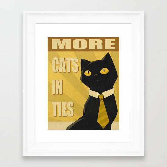 Cats in Ties - PSA Framed Art Print