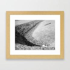 Draining Framed Art Print