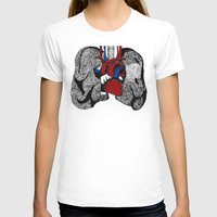 Heart&Lungs Womens Fitted Tee White SMALL