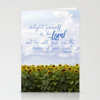 Sunflower Delight - Psal… Stationery Cards