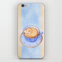 Cat In Coffee iPhone & iPod Skin
