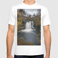Falls of Falloch Mens Fitted Tee White SMALL