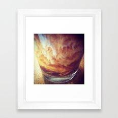 Coffee with Cream Framed Art Print