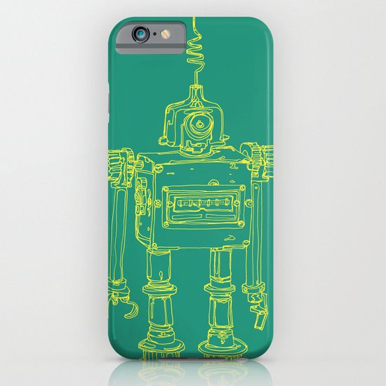 Yellow Robot iPhone & iPod Case