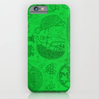 iPhone & iPod Case featuring Turtles Woodcut  (reposted image in new color) by Sean StarWars