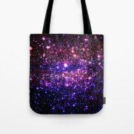 Pink Purple Blue Stars Tote Bag