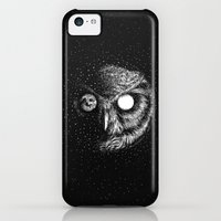 iPhone 5c Cases featuring Moon Blinked by Kerby Rosanes