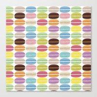 Rainbow Macarons Canvas Print