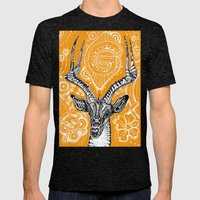 Gazelle Mens Fitted Tee Tri-Black SMALL