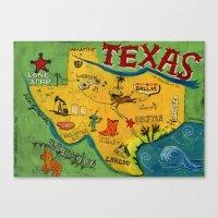 Postcard From Texas Prin… Canvas Print