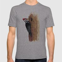 Pileated Woodpecker Mens Fitted Tee Athletic Grey SMALL