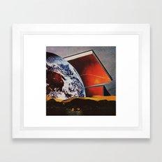 in the swing. Framed Art Print