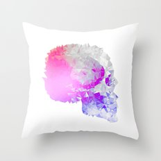 Low poly skull Throw Pillow