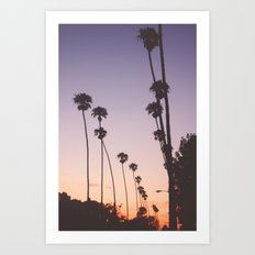 gradient sky Art Print
