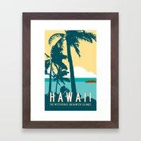 Hawaii Travel Poster Framed Art Print