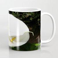 Beautiful White Calla Flowers In Bright Sunlight Mug