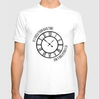 If I Could Turn Back Tim… Mens Fitted Tee White SMALL
