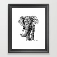 Ornate Elephant Framed Art Print